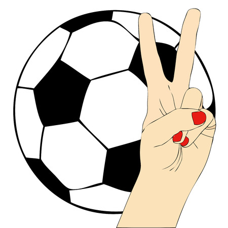 supporter: Symbolic illustration depicting a passionate supporter of football