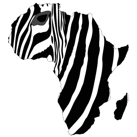 naturalist: Graphic illustration representing the mantle of Africas zebra