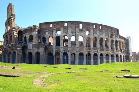 The Colosseum in Rome - Picture of the Colosseum in the city of Rome - Italy photo