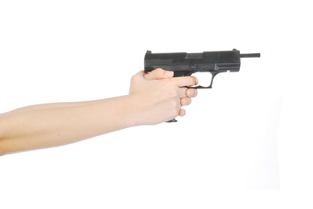 A bad situation - A person armed with a gun and ready to shoot
