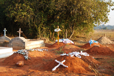 affected: The cemetery of the village Pomerini where are buried many children affected by the virus HIV, tuberculosis or malaria