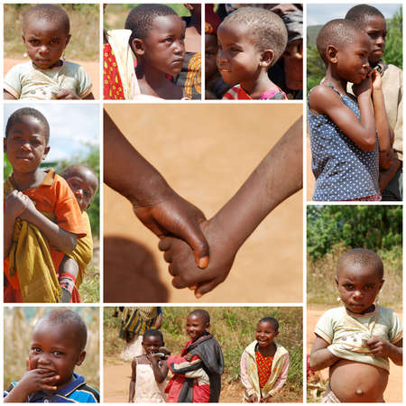misery: August 8, 2014, Mountain of Kilol-Kilolo-Tanzania-Africa - African children unidentified living on the mountain of Kilolo where between misery, hunger, poverty and illnesses survive thanks to the help of international NGOs and the Franciscan Friars who pr