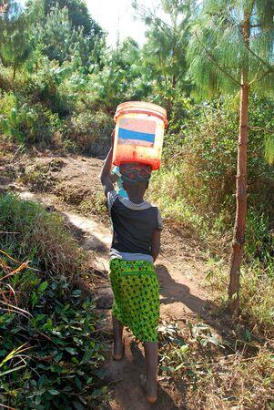 The precious water in the region of Kilolo, Tanzania Africa