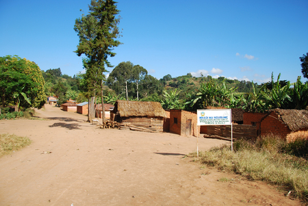 marginalization: The houses of the village of Nguruwe in Tanzania, Africa - The poor dwellings of the village on the mountain Nguruwe Kilolo in Tanzania