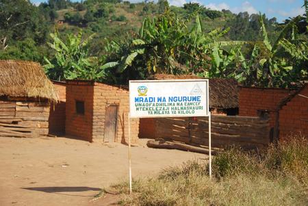 penury: The village of Nguruwe in Tanzania, Africa - The poor dwellings of the village on the mountain Nguruwe Kilolo in Tanzania Stock Photo