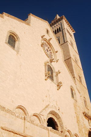 marine environment: The facade of the church of Trani - Image of the beautiful church of the town of Trani in Apulia - Italy