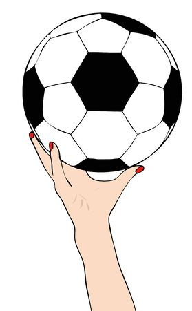 sporting event: You go to start - Symbolic illustration depicting the start of a football game Illustration