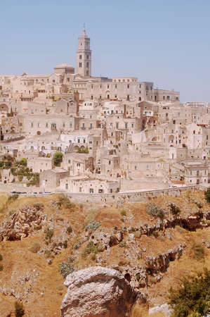 apulia: Overview of the city of Matera in Apulia