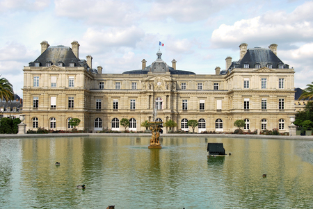 senate: The Luxembourg Palace in Paris headquarters of the French Senate - France