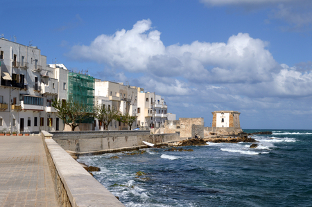 seafront: The houses of the seafront in Trapani - Sicily - Italy