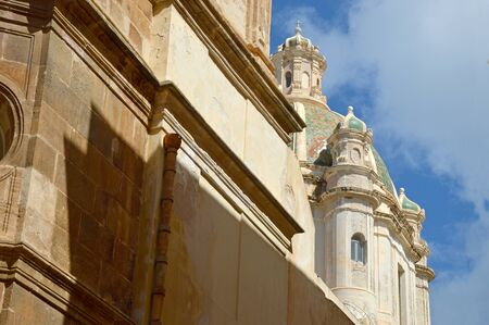 trapani: The baroque cathedral city of Trapani in Sicily - Italy Stock Photo