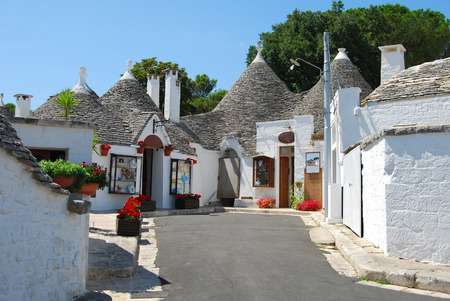 A little square among Trulli of Alberobello - Apulia - Italy