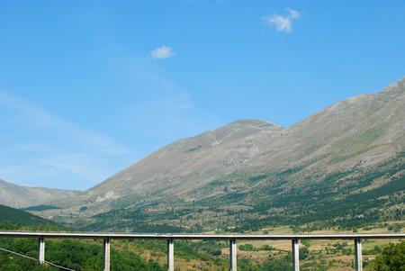 abruzzo: The motorway route in the Abruzzo landscape - Abruzzo - Italy