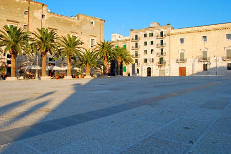 baroque architecture: Baroque architecture in the square of the city of Trani - Apulia - Italy