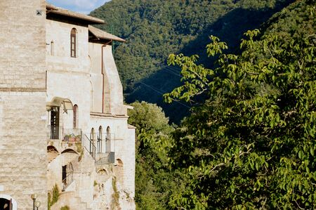 benedictine: Religious Architecture - A monastery in the valley of the Benedictine monasteries in Subiaco in Lazio - Italy