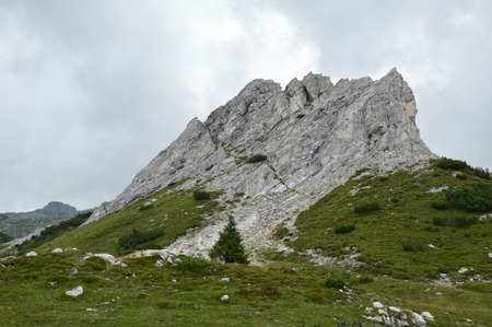 Typical mountain landscape between the peaks of Adamello