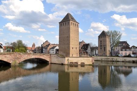 A view of the bridge in Strasbourg prison in Alsace - France