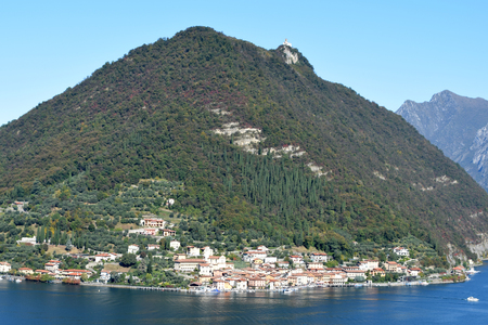 The town of Peschiera to Montisola on Lake Iseo - Lombardy - Italy