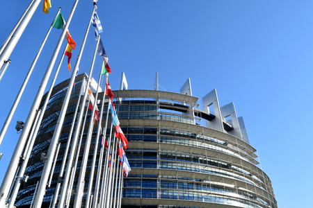 The flags of the EU states wave as a symbol of the union 09