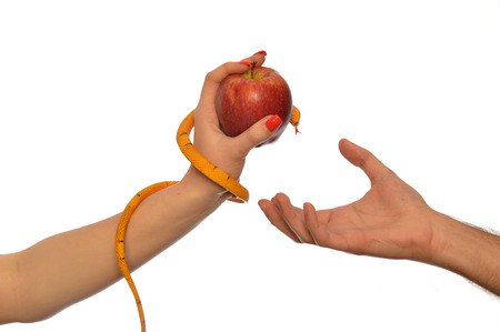 Metaphorical image of the symbolism of Adam and Eve 005 Stock Photo