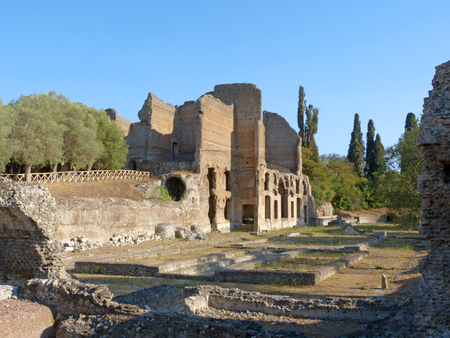 The ruins and remains of an ancient Roman city of Lazio - Italy 07