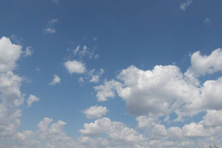 cirrus: Cirrus Clouds Against a Blue Sky Stock Photo