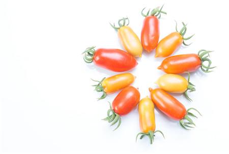 cornsalad: healthy foods, Tomato Queen Stock Photo