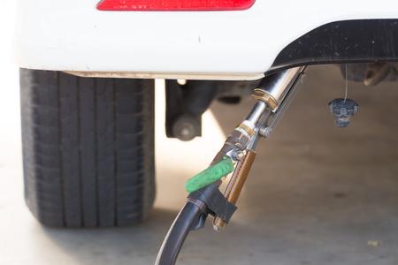 energies: filling LPG to car, LPG Liquefied petroleum gas pump