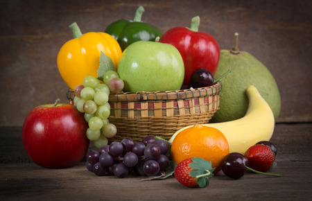 tomatto: Fresh Fruit and Vegetables shot in still life concept Stock Photo