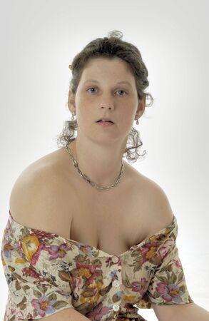 young woman is posing in sexy in Studio Standard-Bild