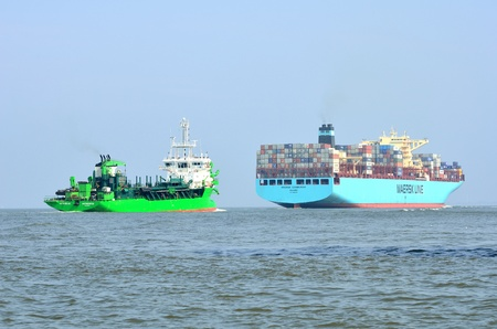 vessels on the elbe river