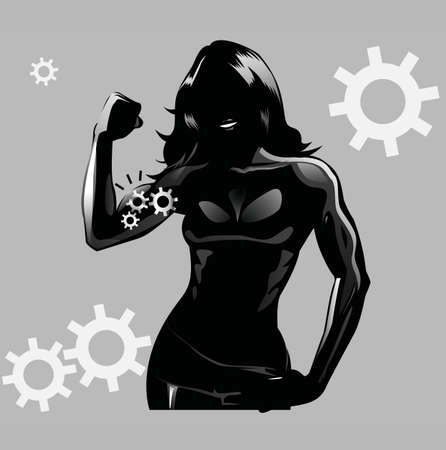 health and fitness: Eye-catching, very elegant and beautiful logo design with concept of silhouette of a women. Logo is perfect for fitness & women?s health companies and fragrance brands. Look gorgeous on white and pink background.