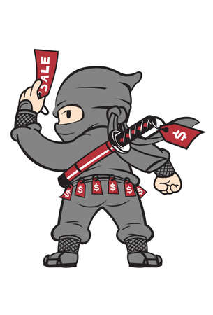 Sales Ninja  The Sales Ninja can be used for savvy sale associates or anything that has to do with martial arts.