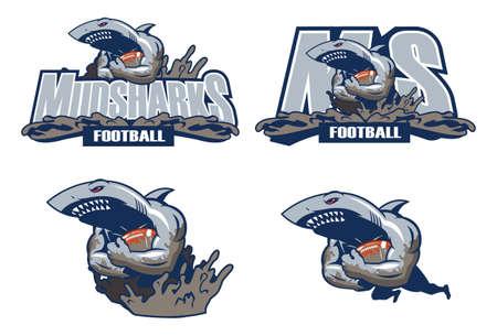 sports jersey: Mud Sharks  A shark mascot for flag football team.