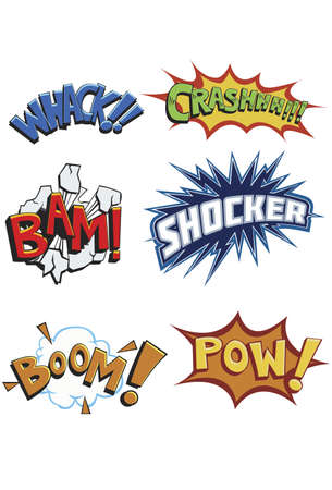 bam: Comicbook Words Modern and eyecatching comic book action words. bam boom crash pow sack shocker.