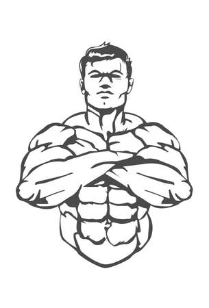 Muscle Man This is a great icon for a boxing gym which specialize in weight training.