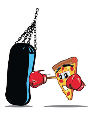 jab: Pizza Punch This icon is perfect for your pizza business or online business. The color and design is clever cheerful unique and meaningful piece. This perfectly helps create a positive image for your brand. Illustration
