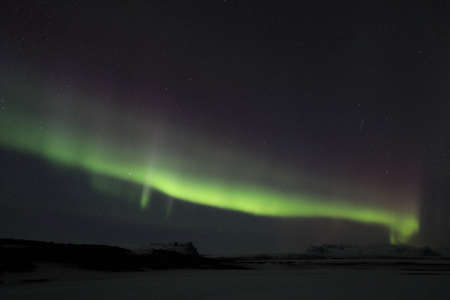 Northern lights at Skaftafell- southern iceland, Iceland, Europe Stock fotó