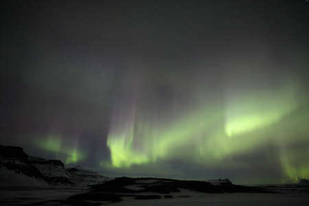 Northern lights at Skaftafell- southern iceland, Iceland, Europe Stock Photo - 106989286
