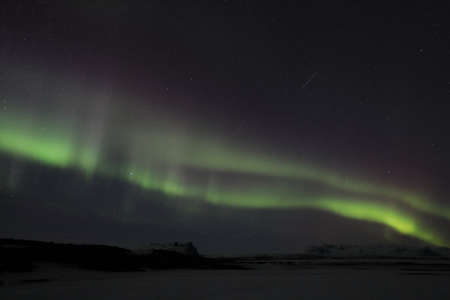Northern lights at Skaftafell- southern iceland, Iceland, Europe