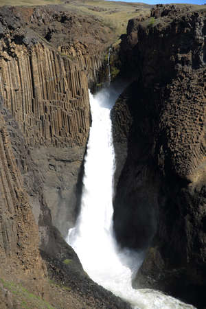 Hengifoss Waterfall in Eastern Iceland