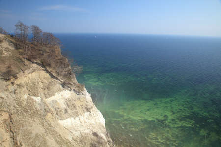Moens Klint, high limestone cliff at the east coast of Denmark