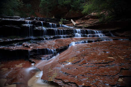Archangel Falls on the way to the Subway Canyon in Zion National Park,