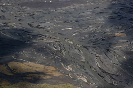 Aerial view of glacier river South Iceland