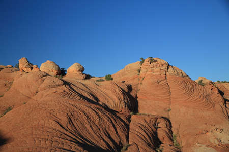 Yant Flat - Candy Cliffs Utah ,The Candy Cliffs in the Yant Flat area of the Cottonwood Forest Wilderness Stock Photo