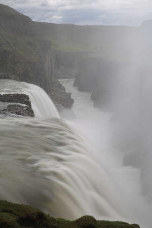 waterfall Gullfoss, famous landmark in Iceland