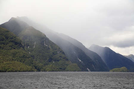 Doubtful Sound in Fiordland, in the far south west of New Zealand