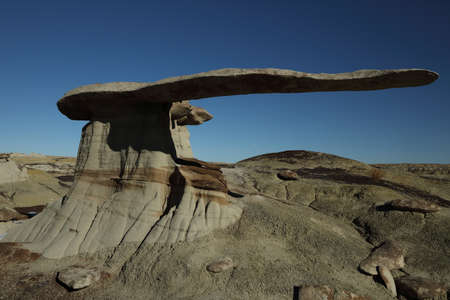 King of Wing, amazing rock formations in Ah-shi-sle-pah wilderness study area, New Mexico USA Reklamní fotografie