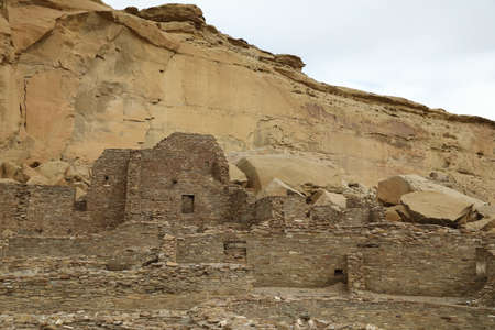 Pueblo Bonito in Chaco Culture National Historical Park in New Mexico, USA
