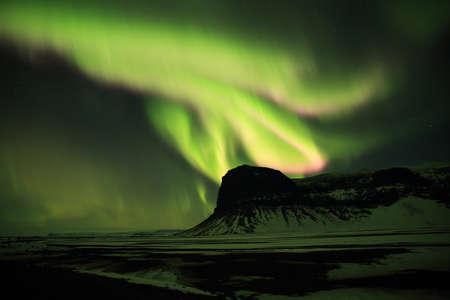 Northern lights at Skaftafell- southern iceland, Iceland Stock fotó